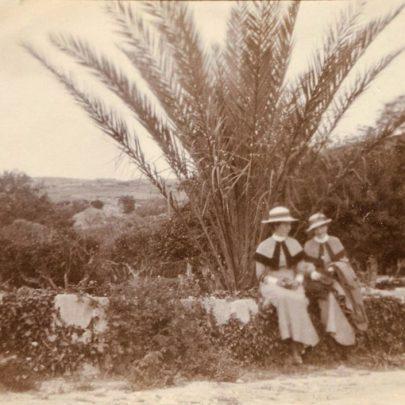 Boschetto Gardens of the summer residence of the Govenor of Malta Lord Methuen. Two QAIMNSR nurses.