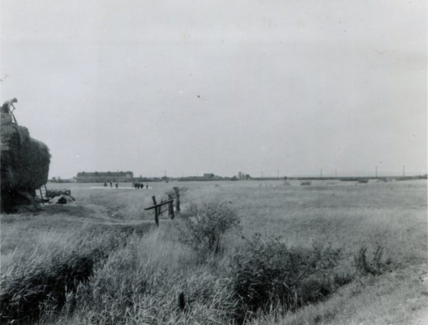 This time fyrther inland but still looking towards the Coastguard Cottages and Sluice Farm | H Reed