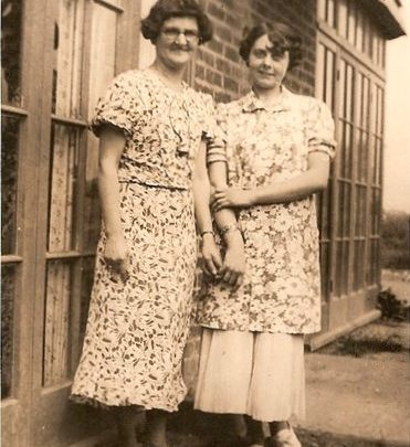 Mum working as waitress (on right) for Azonia Hotel with Ms Stannard 1937 | Moireen Murrell