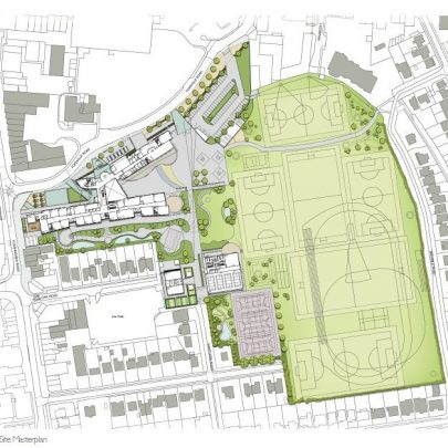 Plan of the new school