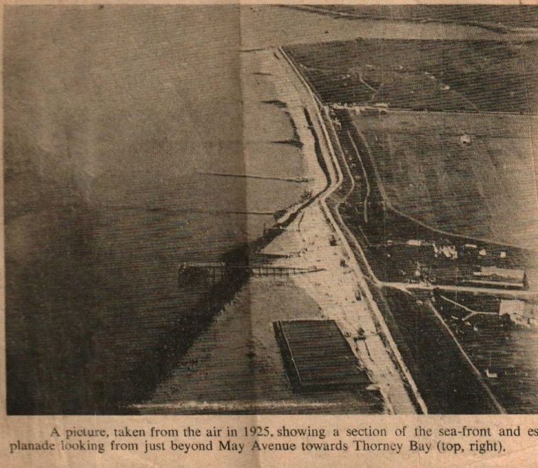 Aerial view of part of the seafront. | Roger Thipthorp collection