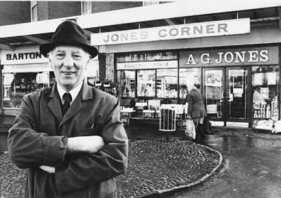 Albert Jones Outside His Shop