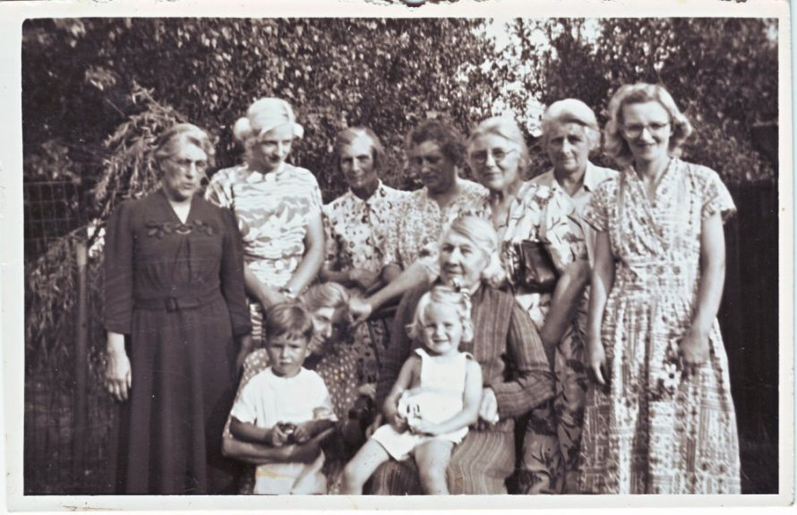The Stuckey Sisters and friends and family. Date unknown