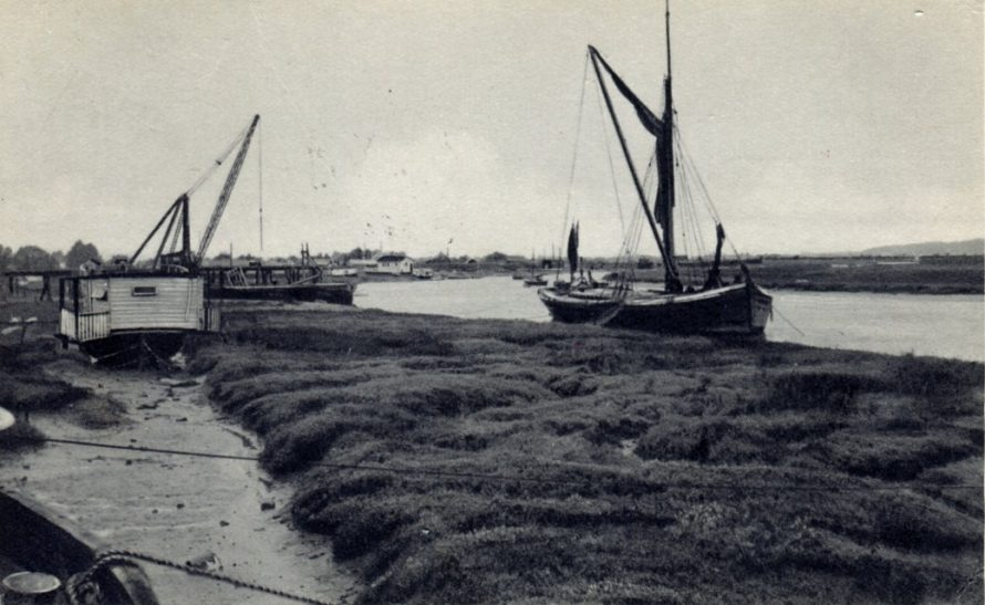 Postcard showing Smallgains Creek