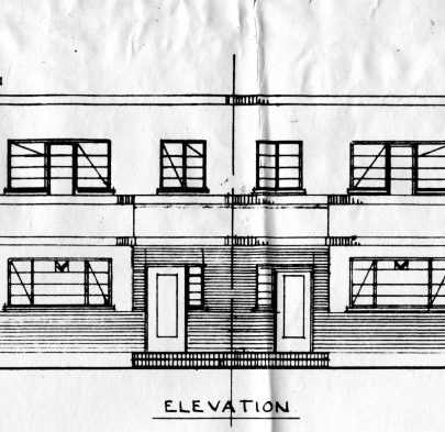 The proposed terraced houses