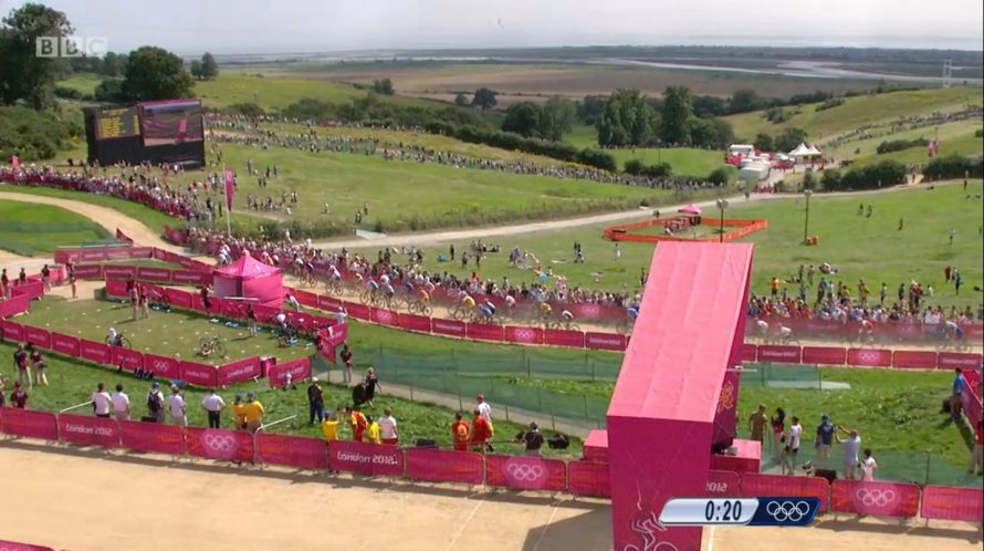 The men's race gets underway. View of Canvey in the distance | BBC