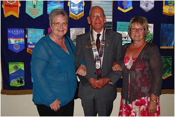 Janet Penn, Alan Humphreys and Joan Liddiard at the Canvey Rotary Club | Michael Machin