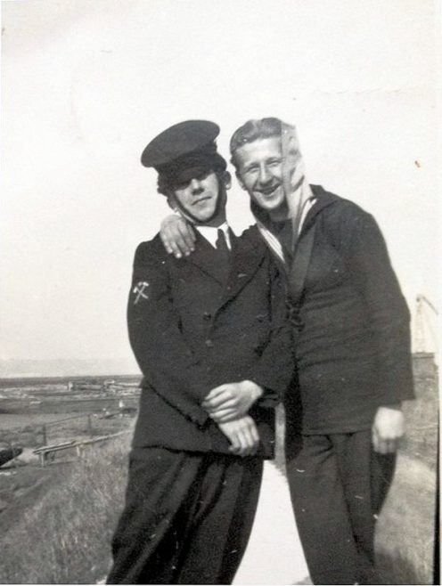 Dad in his naval uniform ( national service) he was too young for the war | Jane Parkin