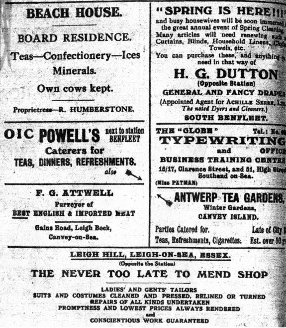 Adverts 1922