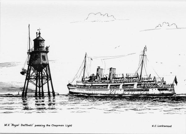 M.V. 'Royal Daffodil' passing the Chapman Light
