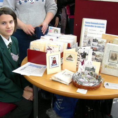 Our youngest member Emma selling her home made cards | Janet Penn