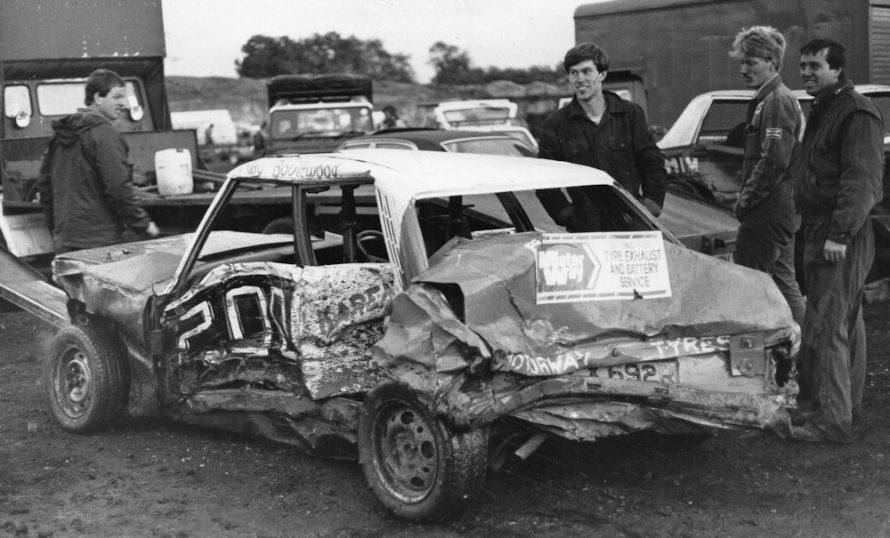 Ray Boulton and the Canvey Cowboys with Ray's car after the last race | Echo Newspaper Group