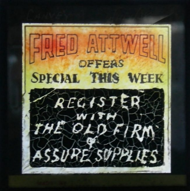 Conventional advert from ' the Old Firm'. | Jessen