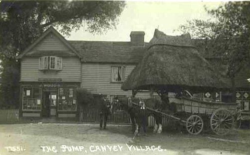 Three pictures of the Village Stores