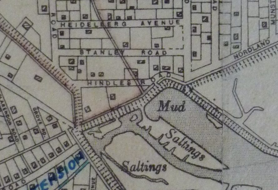Hindles Road 1932 map. I think the picture shows the two buildings next to each other in Hindle Road | Lin and Michael Swanson