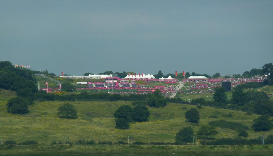 The last day of the Mountain Bike Event as viewed from Canvey | Janet Penn