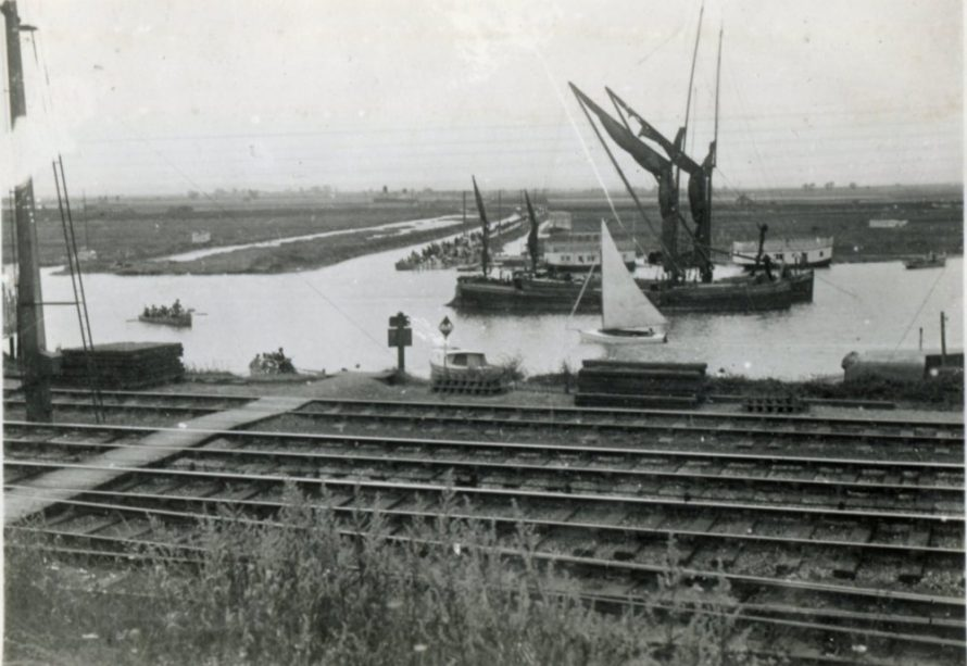 The Railway at Benfleet and the Creek before the Bridge | Henry Clubb