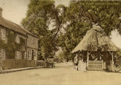 Postcard of the Village pump