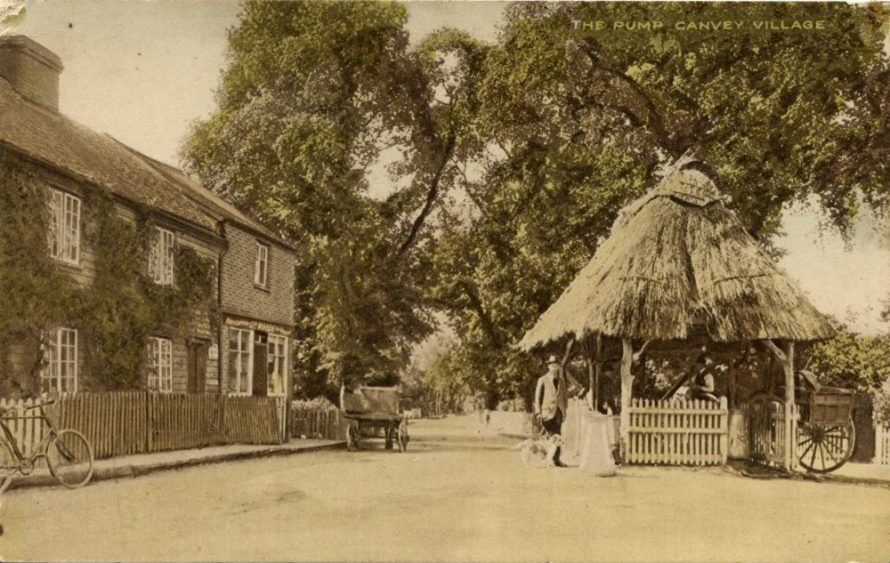 Postcard of the pump