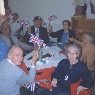 1995. WRVS Hall in Poplar Road. VE day 50th anniversary celebrations | WRVS