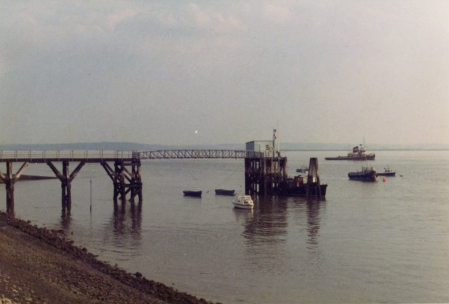 The PLA jetty before it burnt down