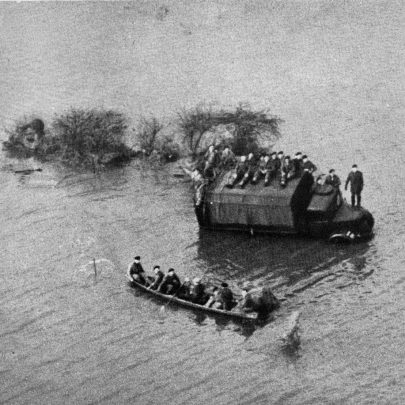 The Army marooned on their lorry in the Thames Estuary.  It was an hour before help came.