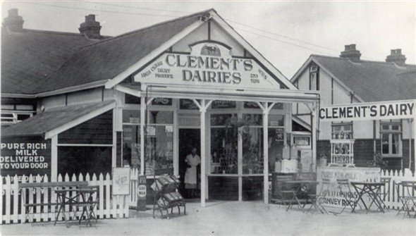 The shop next door Clements Dairies later Chambers.