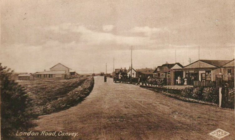 The Market is on the right. You can just make out the sign post to St Anne's Church far right.   Roger Thipthorp collection
