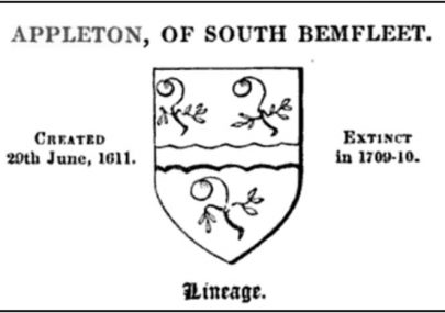 Sir Henry Appleton 1599-1649