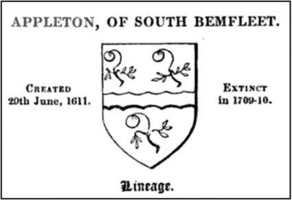 Sir Henry Appleton 1599-1649