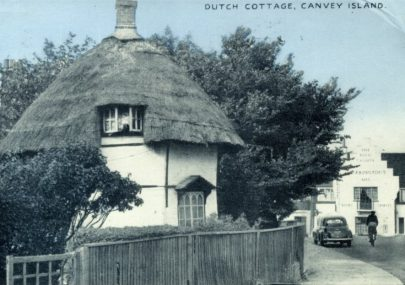 Dutch Cottage and King Canute Postcard