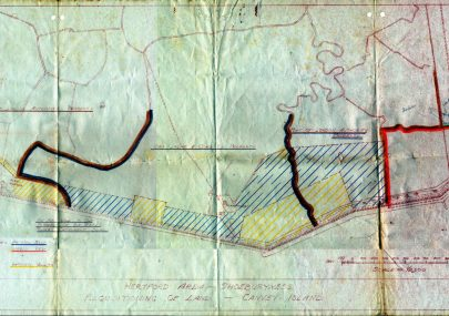 War Department Requisitioning of Land Map