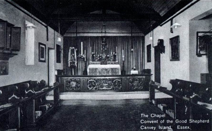 A rare picture of the inside of the Chapel
