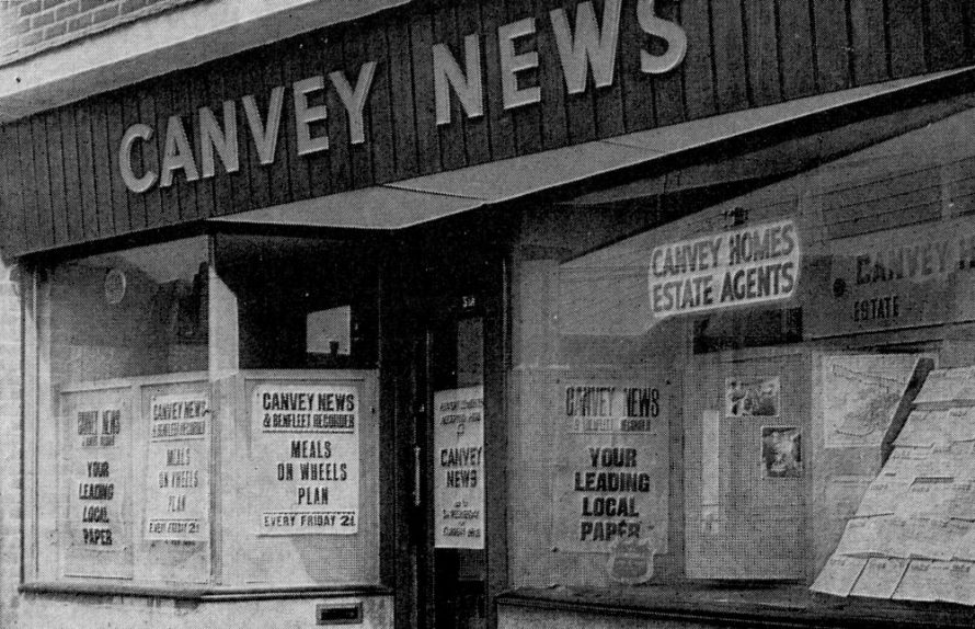Offices of Canvey News at 51 High Street