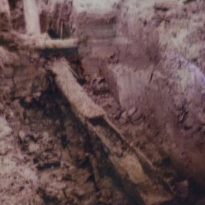 Uncovered culvert showing southern section with ..... top | Dutch Cottage Museum