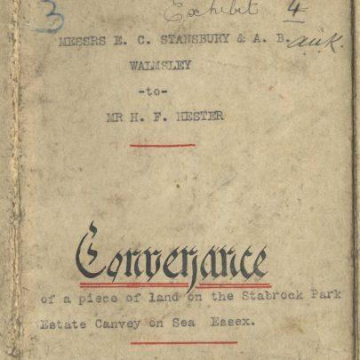 1906 Conveyance | Leonie Gregson
