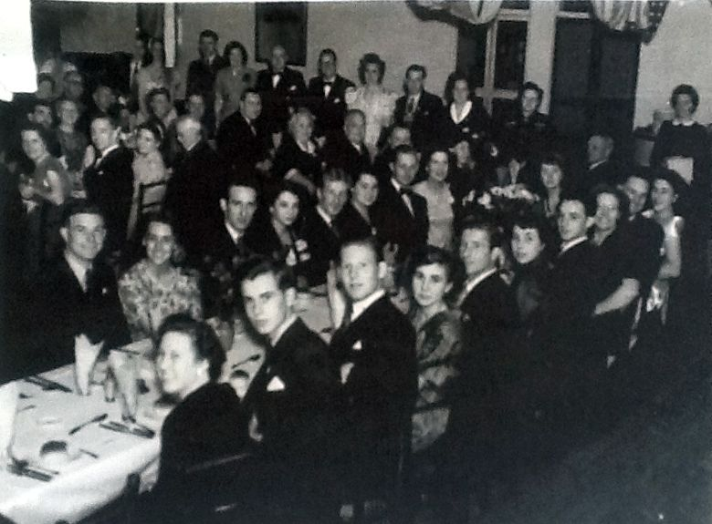 Island Yacht Club dinner dance 1948ish John Manly seated at the front table back row 5 from left. | Jane Parkin