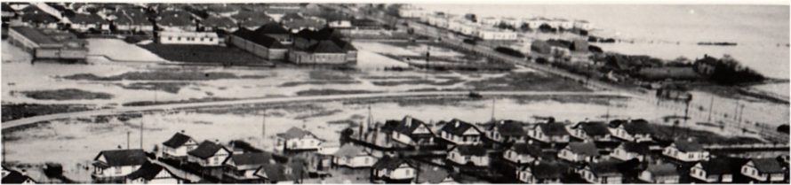 Enlargement showing School and the atomic houses at Long Road