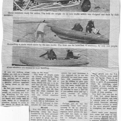 Canvey Island Lifeguards 1973