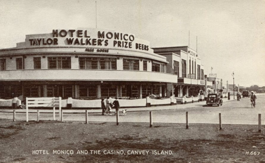 Hotel Monico and The Casino Postcard