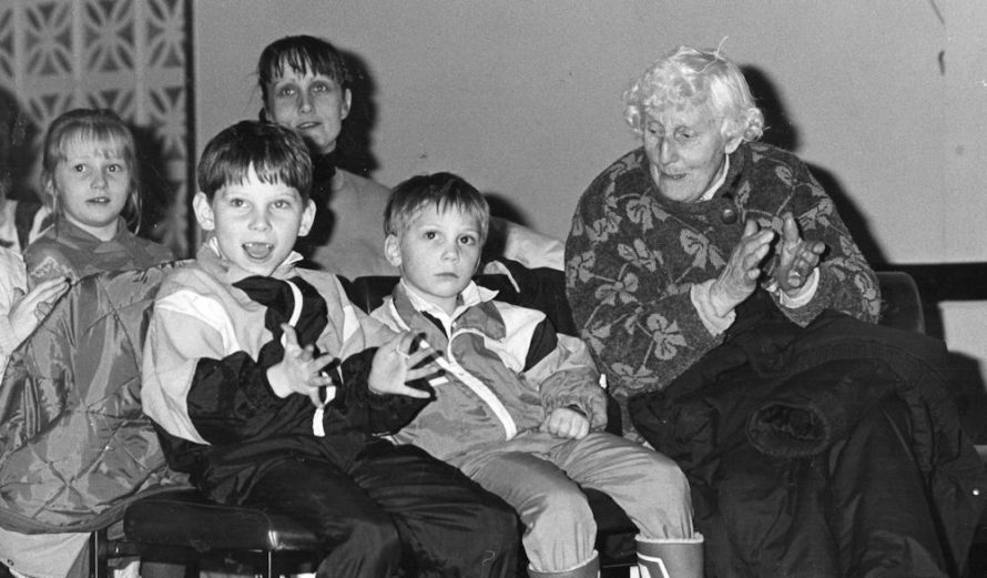 Nellie Finning with her two grandsons Ben and Sam Finning. | Echo Newspaper Group