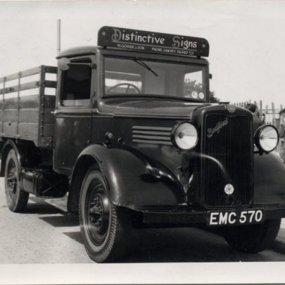 Bedford lorry used on the sign work | Bill Gower