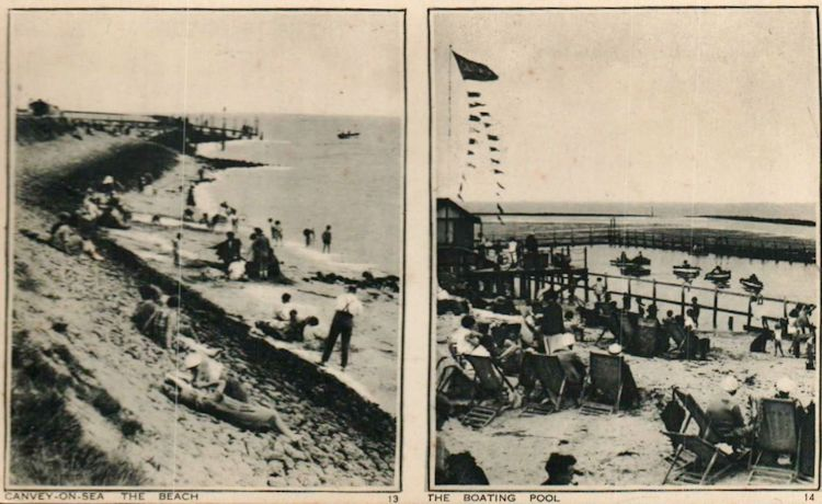 Canvey beach and boating pool. | Roger Thipthorp collection