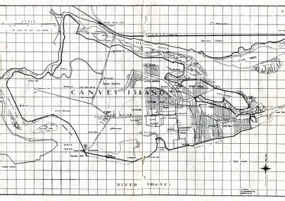 Canvey Island - Map 1946