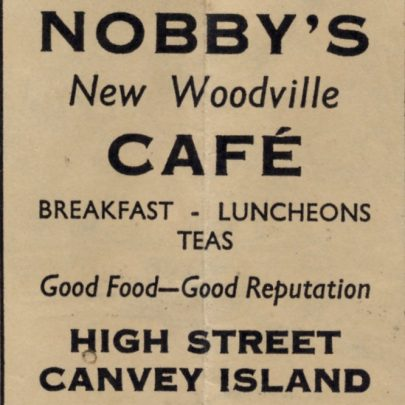 Old Canvey Adverts c1950