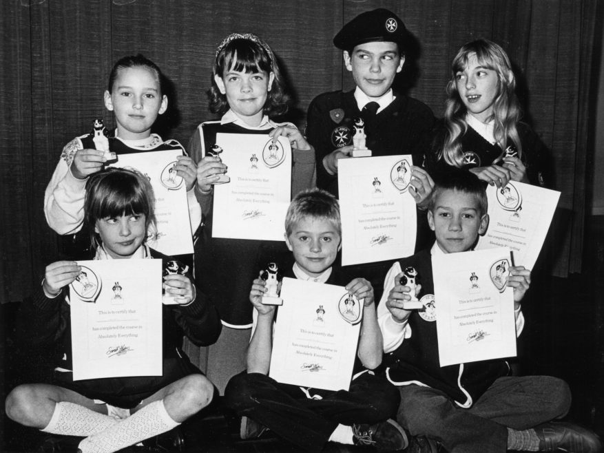 They have completed everything or so the certificate says. | Echo newspaper group and the Rayleigh Town Museum