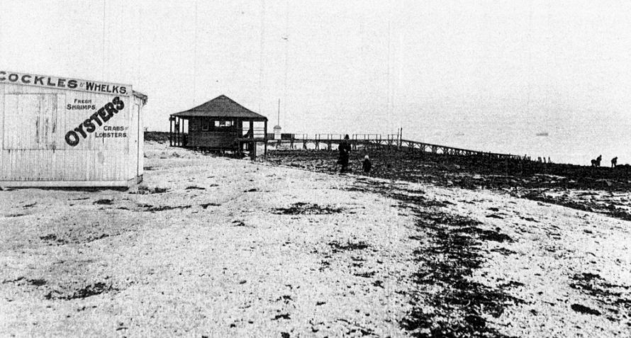Pier between the two pools 1930's