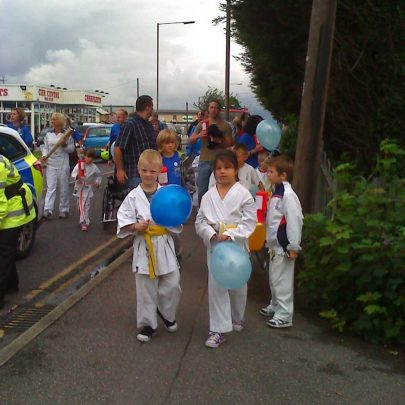 The Olympic flame once again is on the streets of Canvey