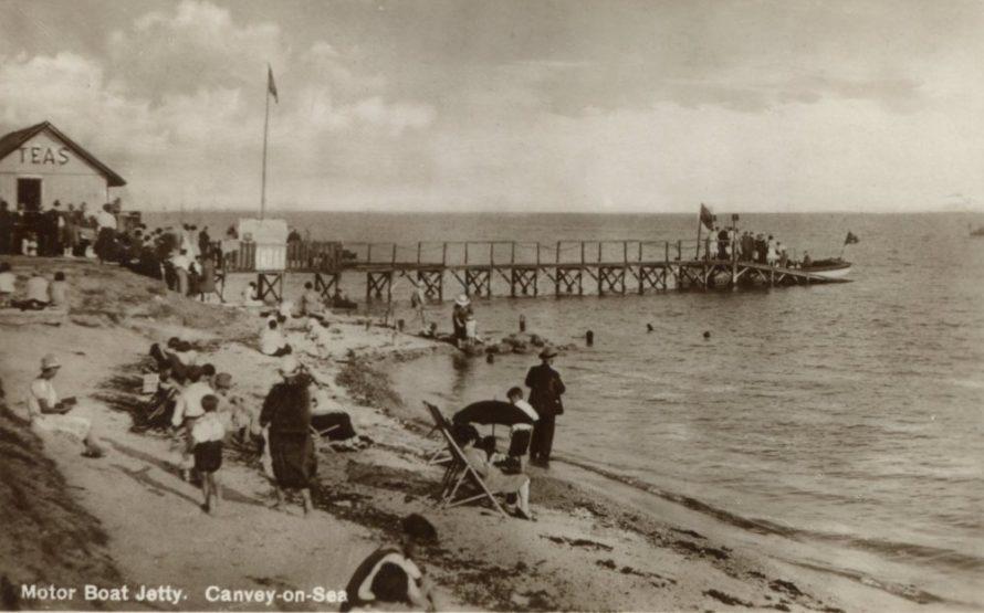 Motor Boat Jetty Postcard