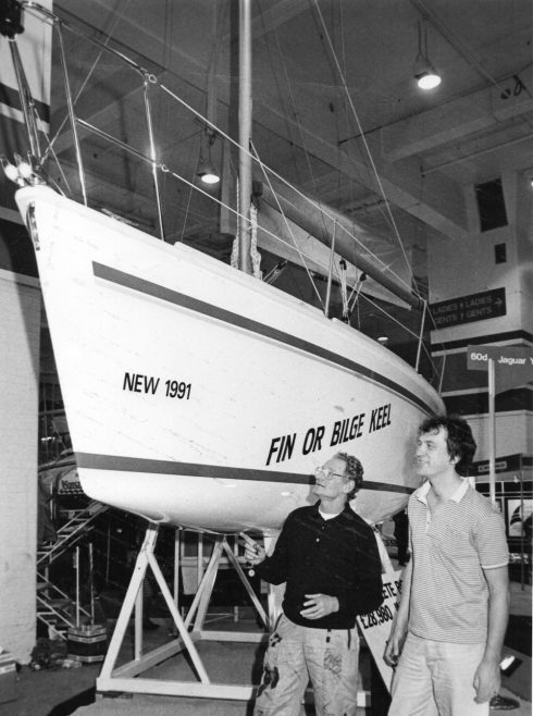 Stephen Mitchel and Erich Birch of the Canvey Yacht Builders with their new yacht a Jaguar 265 | Echo Newspaper Group